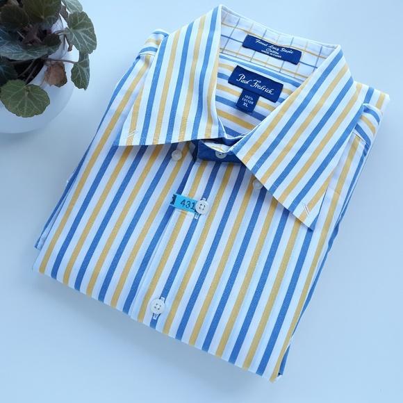Paul Fredrik Other - Paul Fredrick Mens XL Cotton Striped Dress Shirt